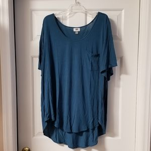 Womens Plus Size Tunic Length Top